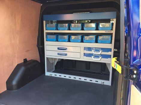 Ford Transit Van >> Transit Custom Dual Cab Van Racking - Van Racking - Vankit Direct